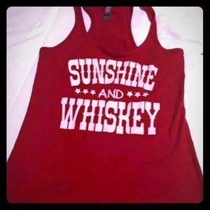 Sunshine & Whiskey Red Racer Back, S
